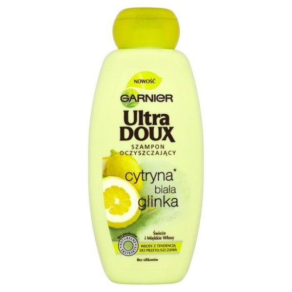 garnier ultra doux shampoo purifying lemon white clay. Black Bedroom Furniture Sets. Home Design Ideas