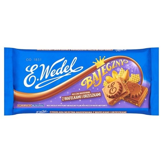 ... Legendary Wedel Milk chocolate stuffed with pine nuts and wafers 290g