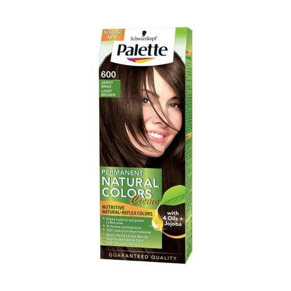 Palette Permanent Natural Colors Hair Dye Light Brown 600  Online Shop Inter