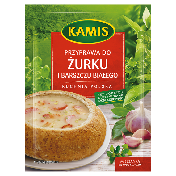 Kamis Kuchnia Polska Przyprawa Do żurku I Barszczu Białego Mieszanka Przyprawowa 25g