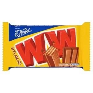 Wedel WW Four wafers layered with nut filling in milk chocolate 47g
