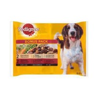 Pedigree with chicken and vegetables as well as beef and vegetables in sauce Complete food 4