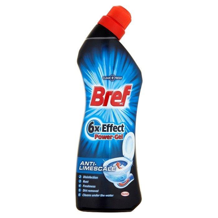 Bref Wc 6x Effect Power Gel Anti Limescale Gel 750ml