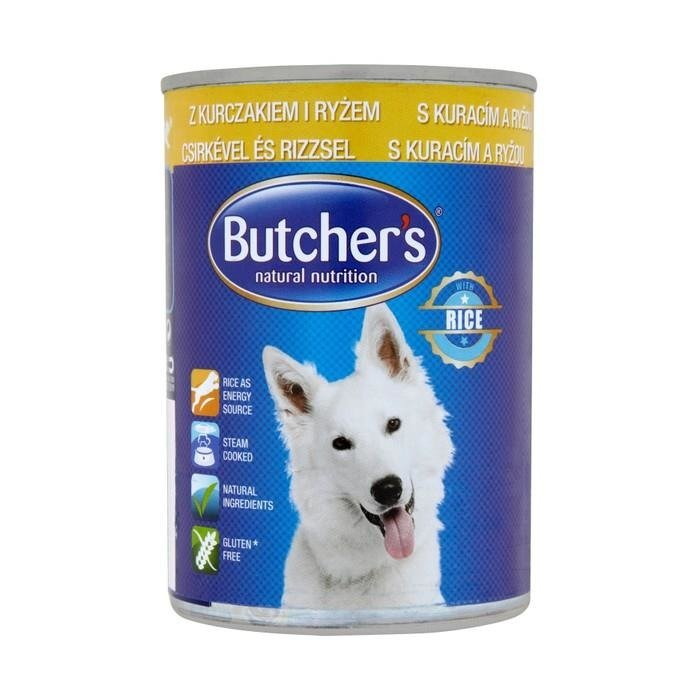 butcher 39 s natural nutrition pate with chicken and rice 390g complete food online shop internet. Black Bedroom Furniture Sets. Home Design Ideas