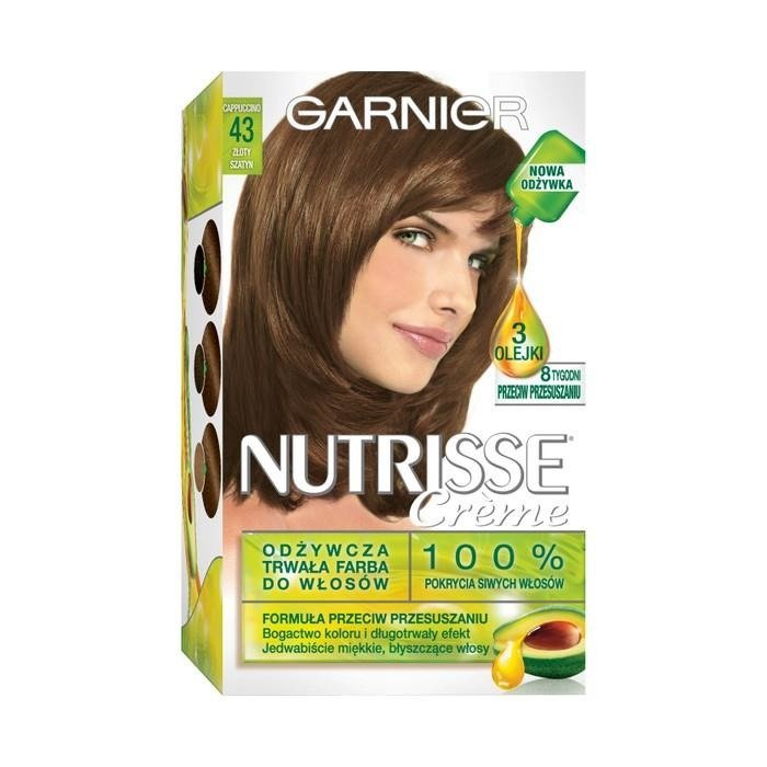 Garnier Nutrisse Crme Hair Dye 43 Golden Brown Online Shop