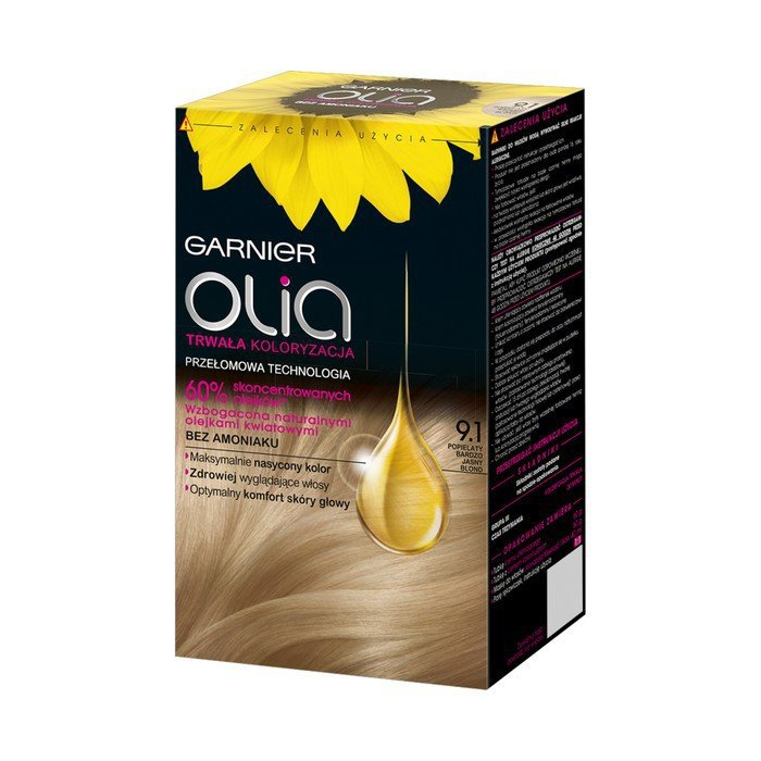 Garnier Hair Dye Olia 9 1 Very Light Ash Blonde Online