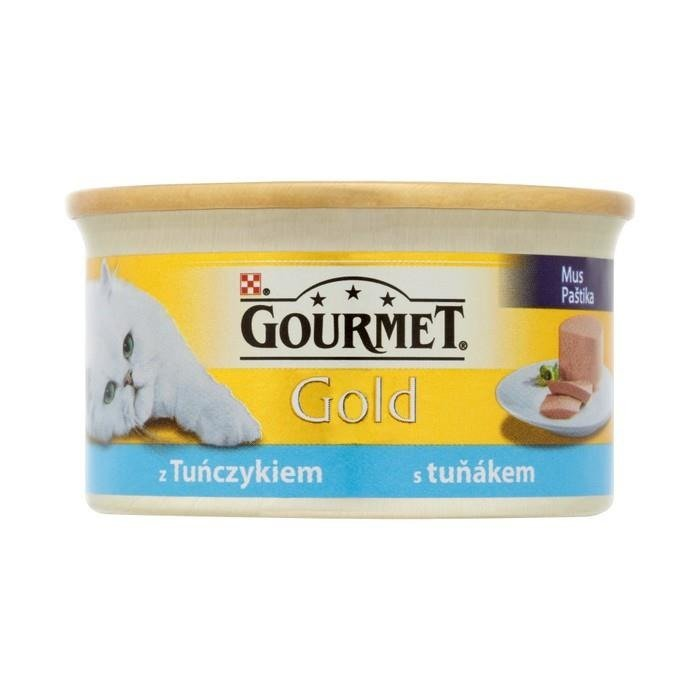 Gourmet gold mousse of tuna complete food for adult cats for Cuisines completes