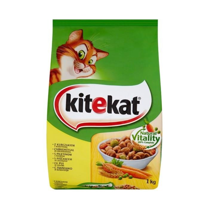 Kitekat with chicken and vegetables complete food 1kg for Cuisines completes