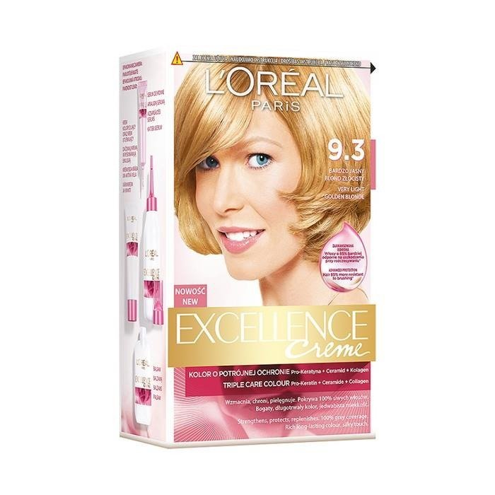Loral Paris Excellence Creme Hair Dye 93 A Very Light Golden