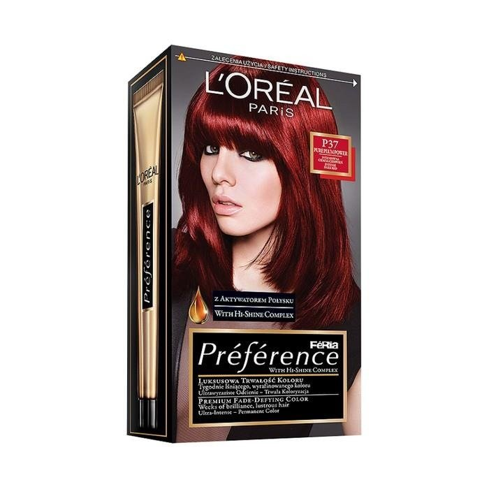 Loral Paris Prfrence Feria Hair Dye P37 Pure Plum Power Online