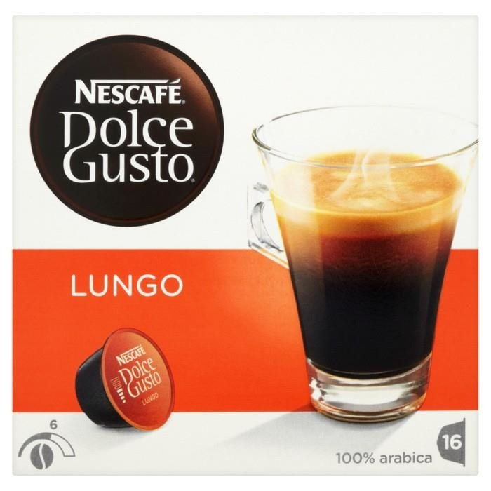 nescaf dolce gusto lungo coffee capsules 112 g 16 pieces online shop internet supermarket. Black Bedroom Furniture Sets. Home Design Ideas