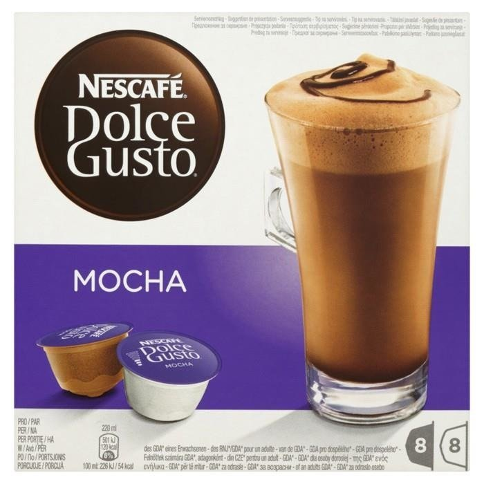 nescaf dolce gusto mocha cocoa and coffee in capsules 216 g 16 pieces online shop internet. Black Bedroom Furniture Sets. Home Design Ideas