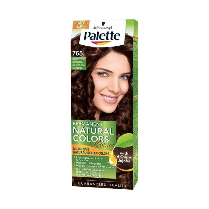 Palette Permanent Natural Colors Hair Dye Gold Chocolate Brown 765 Online Internet Supermarket