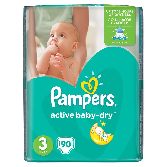 pampers active baby dry nappies midi 3 90 pieces online. Black Bedroom Furniture Sets. Home Design Ideas