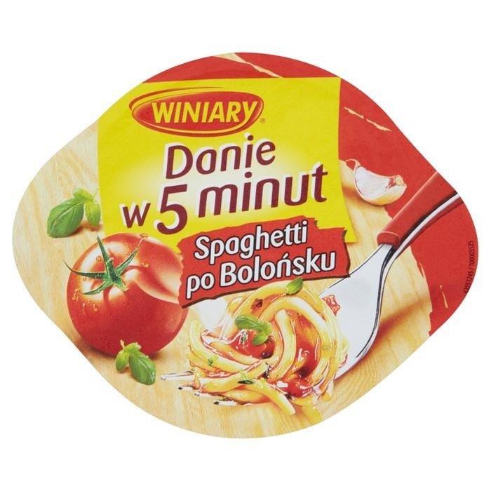 Winiary dish 5 minutes Spaghetti Bolognese 57g - online shop Internet ...