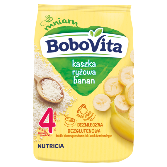BoboVita rice porridge flavored with banana after 4 months 180g