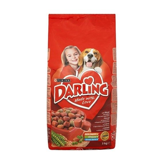 Darling With the addition of selected beef and vegetables Food for adult dogs 3kg