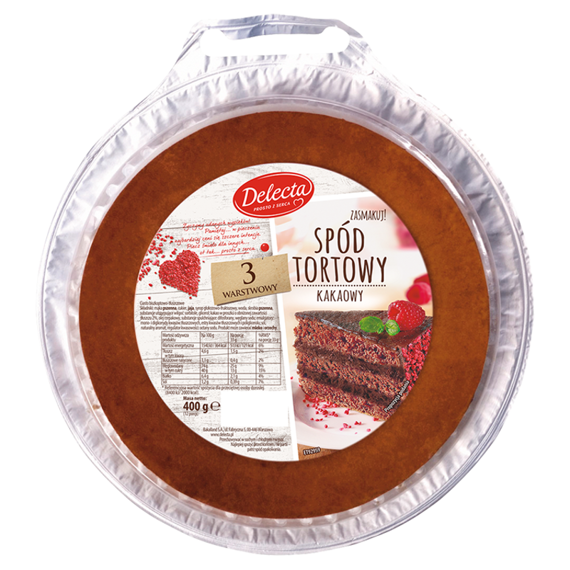 Delecta Bottom Cake Cocoa 3-layer 400g