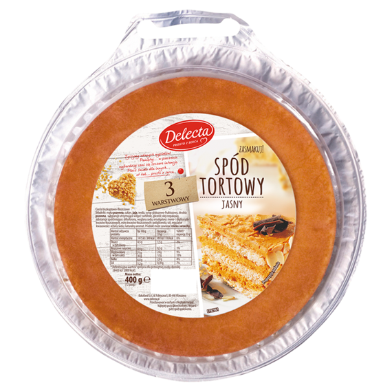 Delecta Bottom Cake clear 3-layer 400g