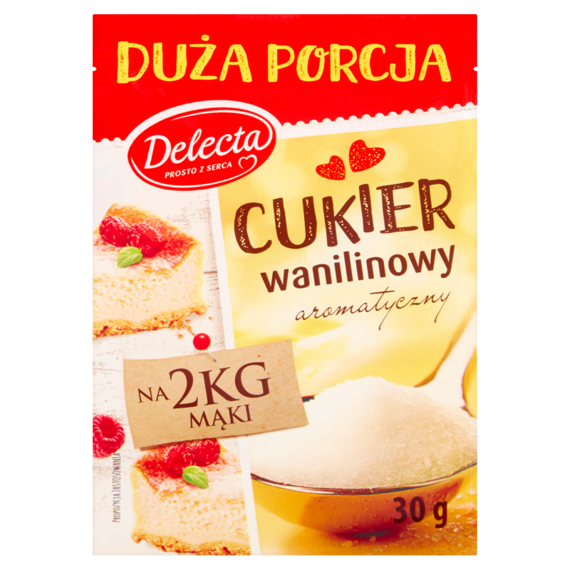 Delecta Sugar Vanilla with natural vanilla extract 30g