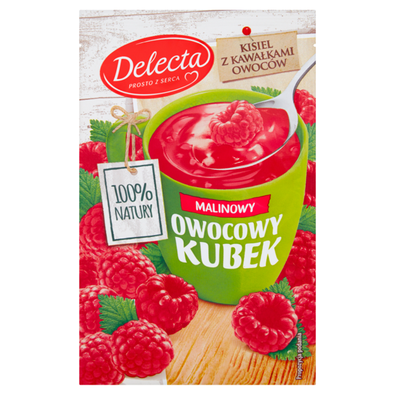 Delecta fruit cup jelly with raspberry flavor 30g