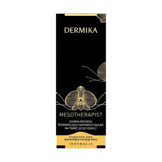 Dermika Mesotherapist Black Orchid Regenerating repair oil on the face neck and neck 30ml