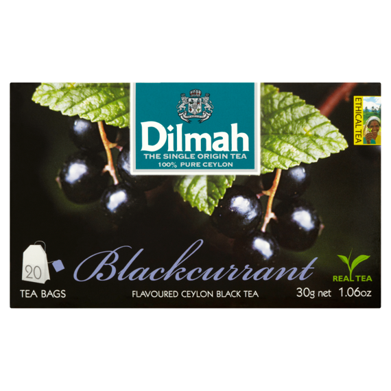Dilmah Sri Lankan black tea with flavors of black currant 30 g (20 bags)