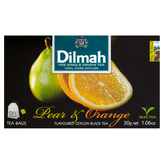 Dilmah Sri Lankan black tea with flavors of pear and orange 30 g (20 bags)
