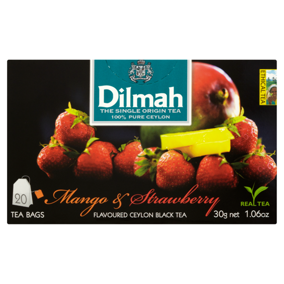 Dilmah Sri Lankan black tea with the aroma of mango and strawberries 30 g (20 bags)