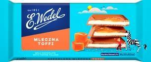 E. Wedel milk chocolate toffee 100g