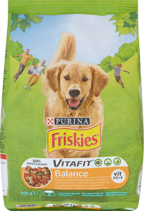 Friskies VitaFit Balance of chicken and some vegetables Food for adult dogs 500g