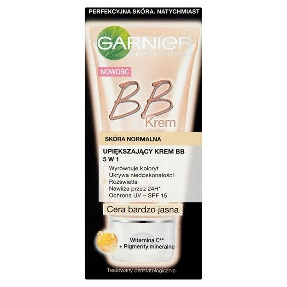 Garnier Beautifying BB Cream 5 in 1 normal skin complexion very clear 50ml