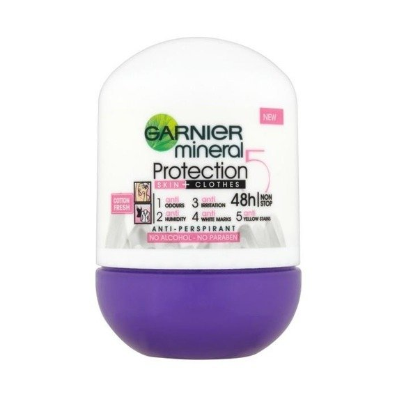 Garnier Mineral Protection 5 Cotton Fresh Anti-perspirant roll-on 50ml