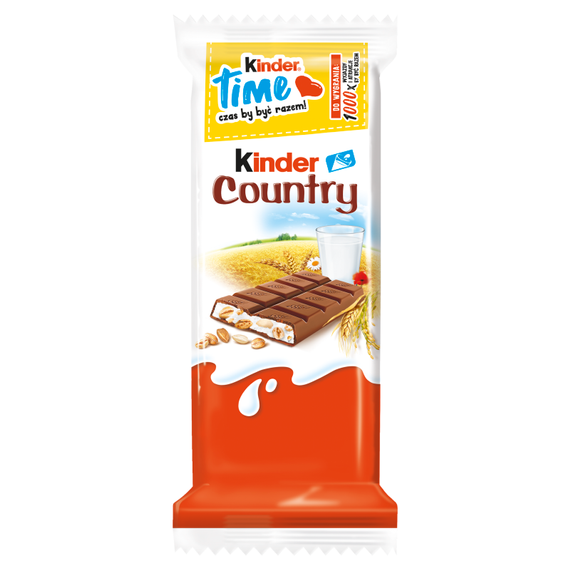 Kinder Country Milk chocolate stuffed with milk and cereals 23,5g