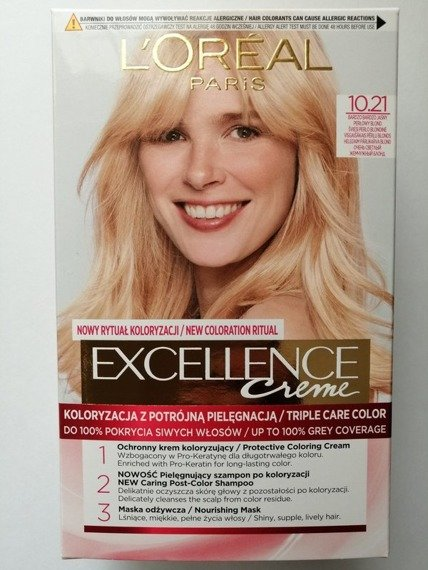 L'Oréal Paris Excellence Creme Hair-dye 10.21 Very very bright pearl blond