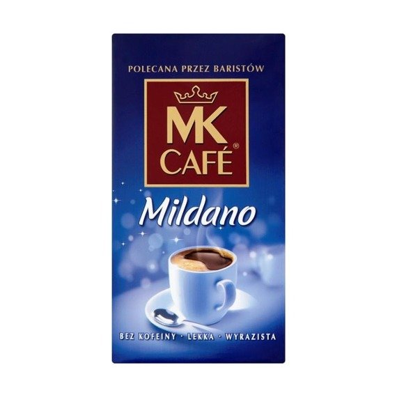 MK Café Mild Coffee roasted, ground decaffeinated 250g