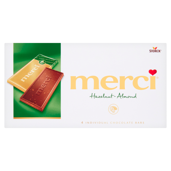 Merci Milk chocolate with pieces of hazelnuts and almonds 100g