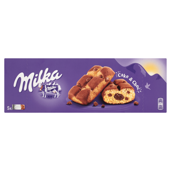 Milka Cake & Choc Biscuit Cookies with chocolate chips and milk chocolate filling 175g