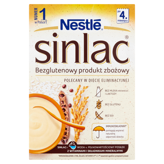 Nestlé Sinlac Gluten-free cereal product over 4 months 500g