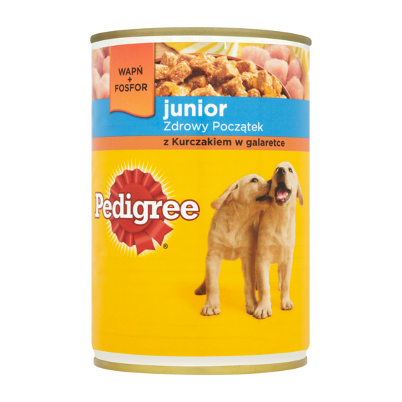 Pedigree Junior with chicken in jelly Complete food 400g