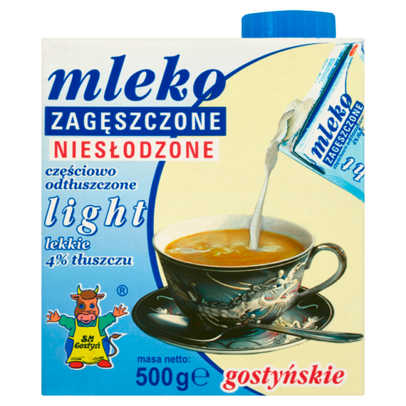 SM Gostyń unsweetened condensed milk Gostyń light 4% 500g