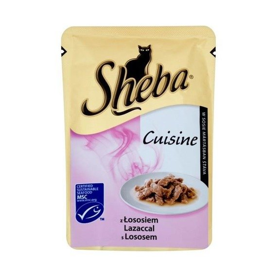 Sheba cuisine sauce with salmon complete food 85g online for Cuisines completes
