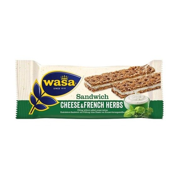 Wasa Sandwich Cheese Sandwich & French Herbs 30 g (2 pieces)