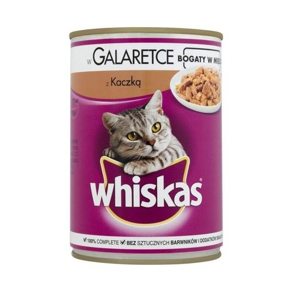Whiskas with duck in jelly Complete food 400g