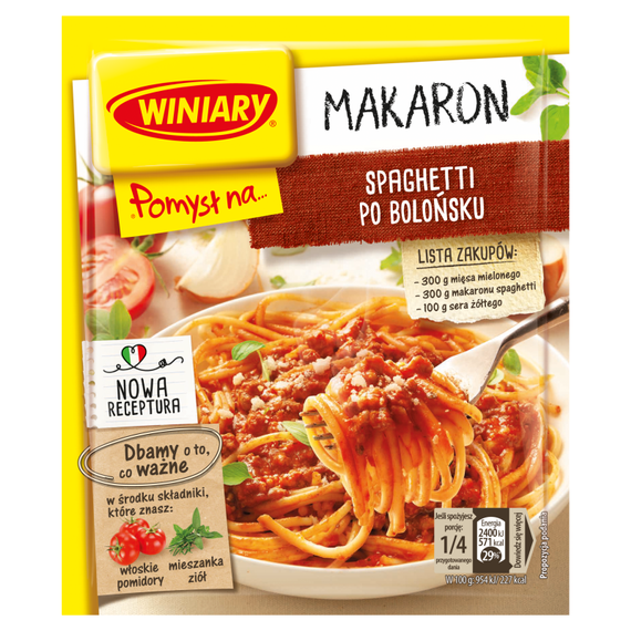 Winiary The idea for ... Spaghetti Bolognese 44g