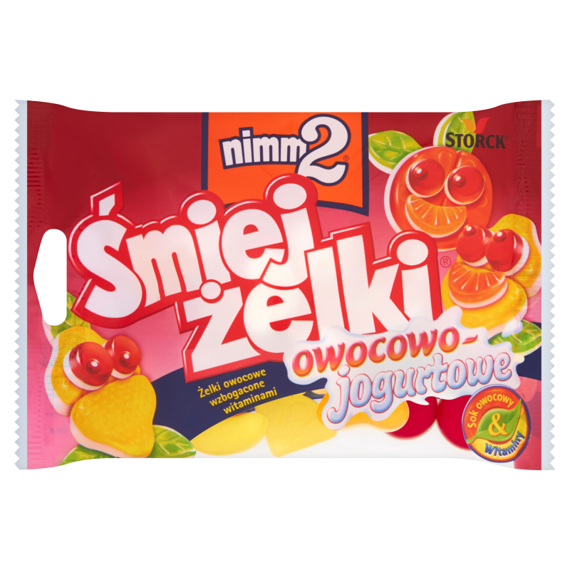 nimm2 Śmiejżelki fruit jellies, fruit yogurt fortified with vitamins 100g