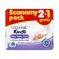 Cleanic Kindii New Baby Care Wipes delicate skin of newborns and infants 180 pieces