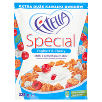 Gellwe Fitella Special Yoghurt and Cherry flakes of whole grain cereals 225g