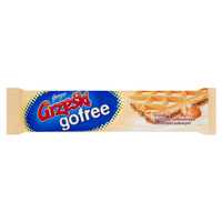 Grześki gofree vanilla-chocolate with nuts Wafer layered cream 33g