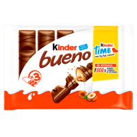 Kinder Bueno Wafer milk chocolate filled with milk and nut stuffing 129 g (3 pieces)